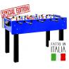 Calcio balilla FAS Stadium 2.0 colore blu aste passanti + palline + spray lubrificante SPECIAL EDITION